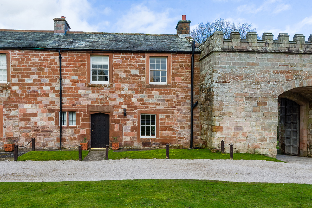 One of the luxury self-contained holiday cottages at Appleby Castle in Cumbria