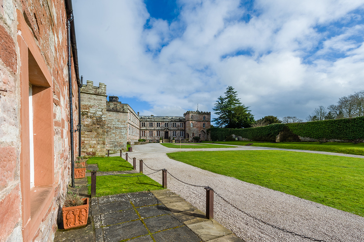 The view of Appleby Castle from one of the luxury self-contained holiday cottages