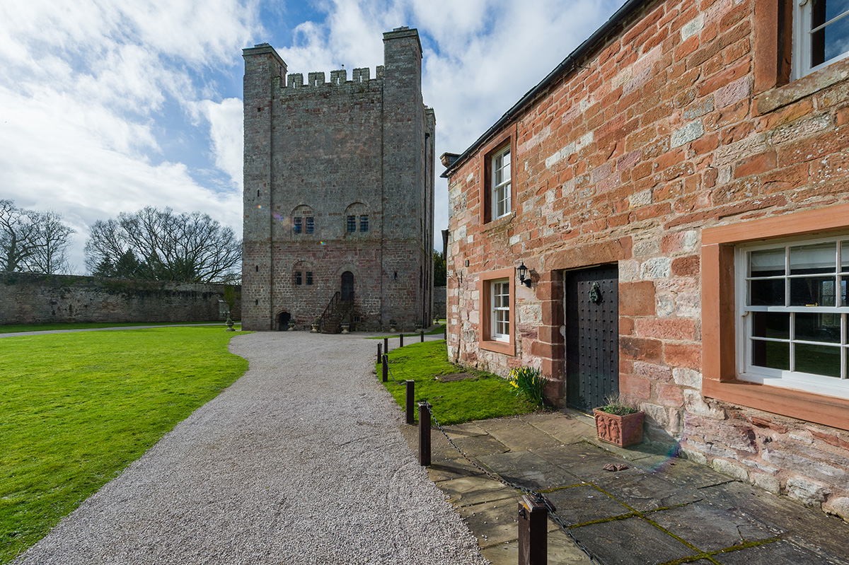 The view of the Norman Keep at Appleby Castle from the holiday cottages