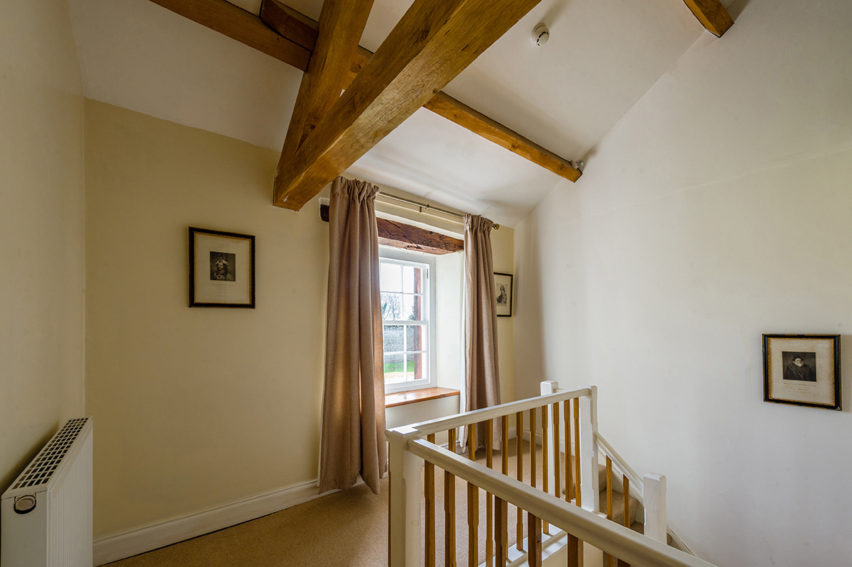 Stairs and window in the self-contained holiday cottages at Appleby Castle