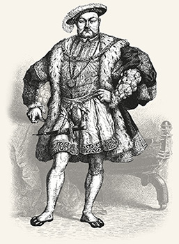 Drawing of King Henry VIII