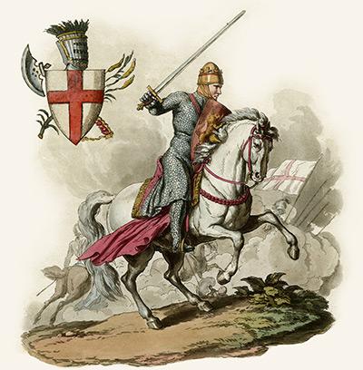 King Richard 'the Lion Heart' in battle